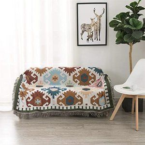 Boho Patterned Southwest Couch Throw Blanket NWT